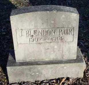 PAIR, J  BLENDON - Crawford County, Arkansas | J  BLENDON PAIR - Arkansas Gravestone Photos