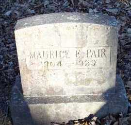 PAIR, MAURICE E - Crawford County, Arkansas | MAURICE E PAIR - Arkansas Gravestone Photos