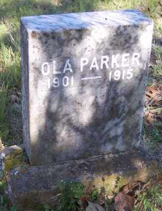 PARKER, OLA - Crawford County, Arkansas | OLA PARKER - Arkansas Gravestone Photos