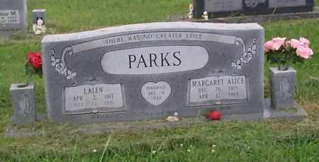 PARKS, MARGARET ALICE - Crawford County, Arkansas | MARGARET ALICE PARKS - Arkansas Gravestone Photos