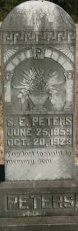 PETERS, S. E. - Crawford County, Arkansas | S. E. PETERS - Arkansas Gravestone Photos