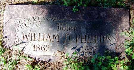 PHILLIPS, WILLIAM D - Crawford County, Arkansas | WILLIAM D PHILLIPS - Arkansas Gravestone Photos