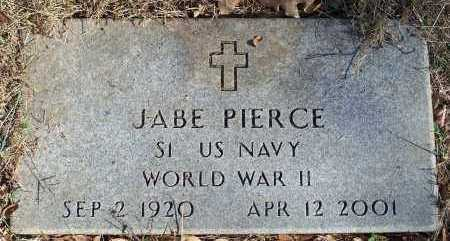 PIERCE  (VETERAN WWII), JABE - Crawford County, Arkansas | JABE PIERCE  (VETERAN WWII) - Arkansas Gravestone Photos
