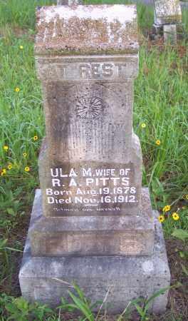 PITTS, ULA M - Crawford County, Arkansas | ULA M PITTS - Arkansas Gravestone Photos