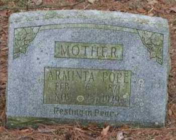 POPE, ARMINTA - Crawford County, Arkansas | ARMINTA POPE - Arkansas Gravestone Photos