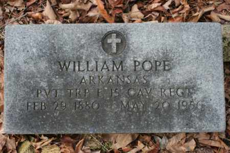 POPE  (VETERAN), WILLIAM - Crawford County, Arkansas | WILLIAM POPE  (VETERAN) - Arkansas Gravestone Photos