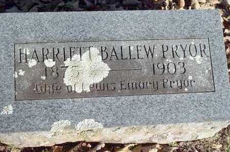 PRYOR, HARRIETT - Crawford County, Arkansas | HARRIETT PRYOR - Arkansas Gravestone Photos