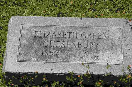 QUESENBURY, ELIZABETH GREEN - Crawford County, Arkansas | ELIZABETH GREEN QUESENBURY - Arkansas Gravestone Photos