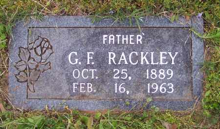 RACKLEY, G F - Crawford County, Arkansas | G F RACKLEY - Arkansas Gravestone Photos