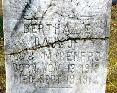 RENFRO, BERTHA E - Crawford County, Arkansas | BERTHA E RENFRO - Arkansas Gravestone Photos