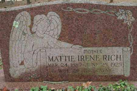 PAYNE, MATTIE IRENE RICH - Crawford County, Arkansas | MATTIE IRENE RICH PAYNE - Arkansas Gravestone Photos