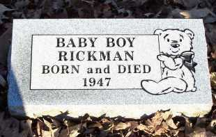 RICKMAN, BABY BOY - Crawford County, Arkansas | BABY BOY RICKMAN - Arkansas Gravestone Photos