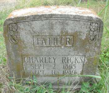RICKS, CHARLEY - Crawford County, Arkansas | CHARLEY RICKS - Arkansas Gravestone Photos