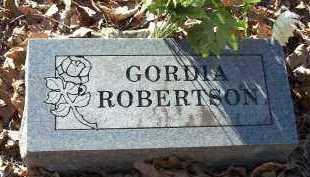 ROBERTSON, GORDIA - Crawford County, Arkansas | GORDIA ROBERTSON - Arkansas Gravestone Photos