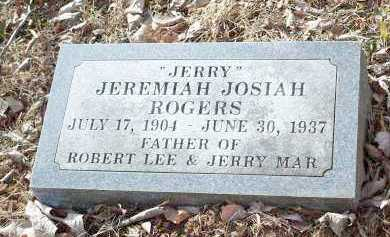 ROGERS, JEREMIAH JOSIAH 'JERRY' - Crawford County, Arkansas | JEREMIAH JOSIAH 'JERRY' ROGERS - Arkansas Gravestone Photos