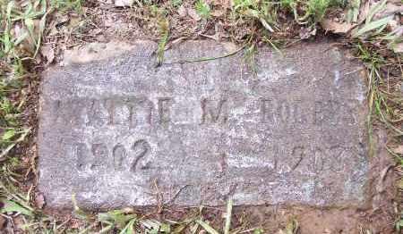 ROGERS, MATTIE M - Crawford County, Arkansas | MATTIE M ROGERS - Arkansas Gravestone Photos