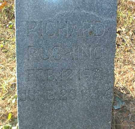 RUSHING, RICHARD - Crawford County, Arkansas | RICHARD RUSHING - Arkansas Gravestone Photos
