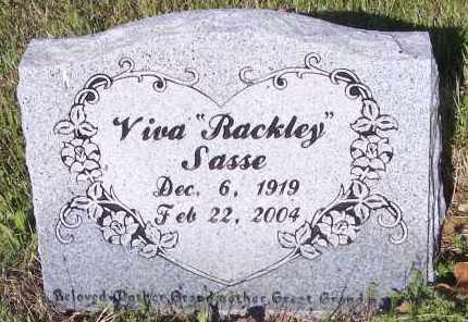 RACKLEY SASSE, VIVA L - Crawford County, Arkansas | VIVA L RACKLEY SASSE - Arkansas Gravestone Photos