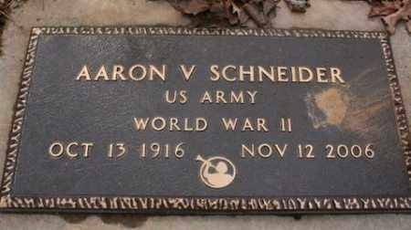 SCHNEIDER (VETERAN WWII), AARON V - Crawford County, Arkansas | AARON V SCHNEIDER (VETERAN WWII) - Arkansas Gravestone Photos