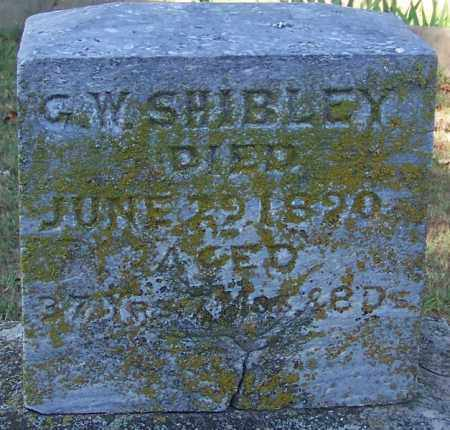 SHIBLEY, G W - Crawford County, Arkansas | G W SHIBLEY - Arkansas Gravestone Photos