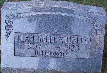 SHIBLEY, LEAH BELLE - Crawford County, Arkansas | LEAH BELLE SHIBLEY - Arkansas Gravestone Photos