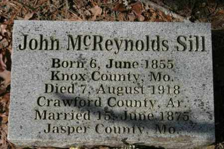 SILL, JOHN MCREYNOLDS - Crawford County, Arkansas | JOHN MCREYNOLDS SILL - Arkansas Gravestone Photos
