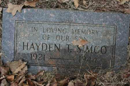 SIMCO, HAYDEN T - Crawford County, Arkansas | HAYDEN T SIMCO - Arkansas Gravestone Photos