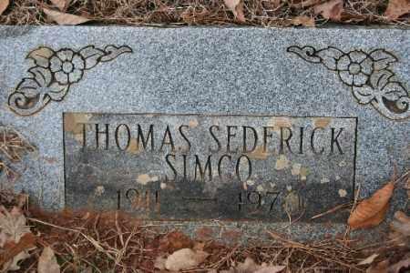 SIMCO, THOMAS SEDERICK - Crawford County, Arkansas   THOMAS SEDERICK SIMCO - Arkansas Gravestone Photos