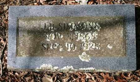 SIMMONS, J  B - Crawford County, Arkansas | J  B SIMMONS - Arkansas Gravestone Photos