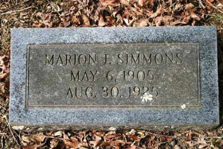 SIMMONS, MARION F - Crawford County, Arkansas | MARION F SIMMONS - Arkansas Gravestone Photos