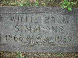 SIMMONS, WILLIE BREM - Crawford County, Arkansas | WILLIE BREM SIMMONS - Arkansas Gravestone Photos