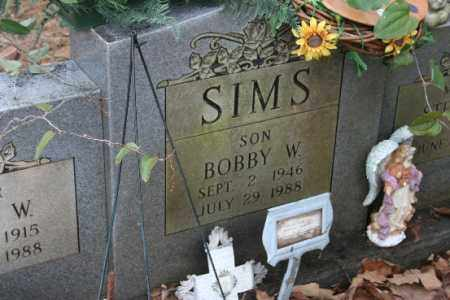 SIMS, BOBBY W (CLOSEUP) - Crawford County, Arkansas | BOBBY W (CLOSEUP) SIMS - Arkansas Gravestone Photos