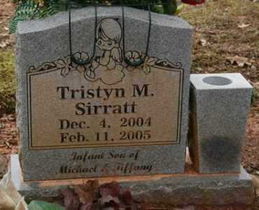 SIRRATT, TRISTYN M - Crawford County, Arkansas | TRISTYN M SIRRATT - Arkansas Gravestone Photos