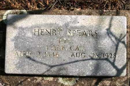 SPEARS (VETERAN CSA), HENRY - Crawford County, Arkansas   HENRY SPEARS (VETERAN CSA) - Arkansas Gravestone Photos