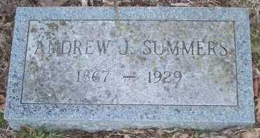 SUMMERS, ANDREW J. - Crawford County, Arkansas | ANDREW J. SUMMERS - Arkansas Gravestone Photos