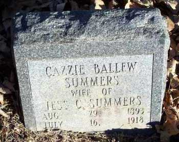 SUMMERS, CAZZIE - Crawford County, Arkansas | CAZZIE SUMMERS - Arkansas Gravestone Photos
