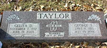 TAYLOR, GELITA D - Crawford County, Arkansas | GELITA D TAYLOR - Arkansas Gravestone Photos