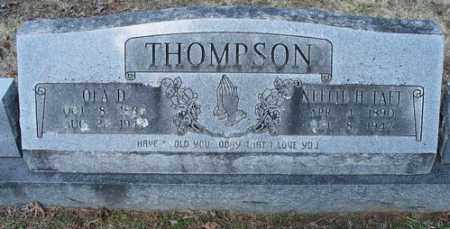 TAFT THOMPSON, NELLIE H. - Crawford County, Arkansas | NELLIE H. TAFT THOMPSON - Arkansas Gravestone Photos