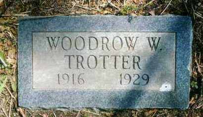 TROTTER, WOODROW W - Crawford County, Arkansas | WOODROW W TROTTER - Arkansas Gravestone Photos