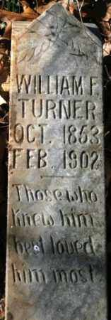 TURNER, WILLIAM F - Crawford County, Arkansas | WILLIAM F TURNER - Arkansas Gravestone Photos