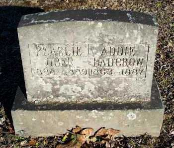 UBER, PEARLIE - Crawford County, Arkansas | PEARLIE UBER - Arkansas Gravestone Photos