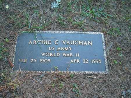 VAUGHAN (VETERAN WWII), ARCHIE C - Crawford County, Arkansas | ARCHIE C VAUGHAN (VETERAN WWII) - Arkansas Gravestone Photos