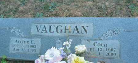 VAUGHAN, CORA - Crawford County, Arkansas | CORA VAUGHAN - Arkansas Gravestone Photos