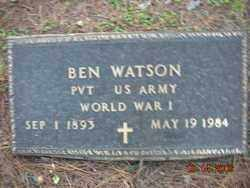 WATSON (VETERAN WWI), BEN - Crawford County, Arkansas | BEN WATSON (VETERAN WWI) - Arkansas Gravestone Photos