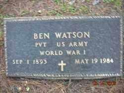WATSON (VETERAN WWI), BEN - Crawford County, Arkansas   BEN WATSON (VETERAN WWI) - Arkansas Gravestone Photos