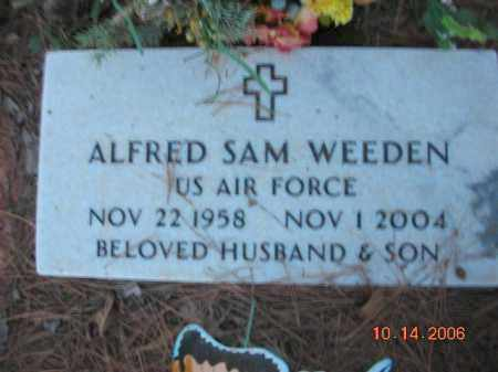 WEEDEN (VETERAN), ALFRED SAM - Crawford County, Arkansas | ALFRED SAM WEEDEN (VETERAN) - Arkansas Gravestone Photos