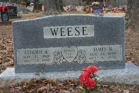 WEESE, CLIMMIE K - Crawford County, Arkansas | CLIMMIE K WEESE - Arkansas Gravestone Photos