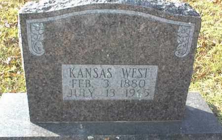 WEST, KANSAS - Crawford County, Arkansas | KANSAS WEST - Arkansas Gravestone Photos