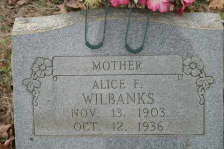 WILBANKS, ALICE F. - Crawford County, Arkansas | ALICE F. WILBANKS - Arkansas Gravestone Photos