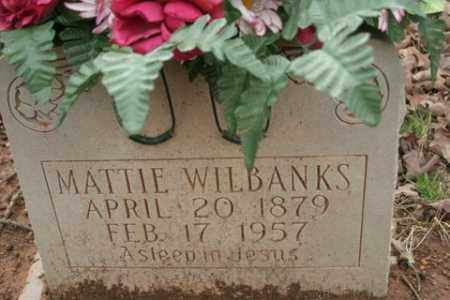 WILBANKS, MATTIE - Crawford County, Arkansas | MATTIE WILBANKS - Arkansas Gravestone Photos